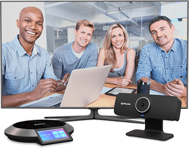 Work meeting using communication system