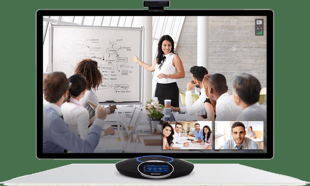 Online work meeting